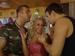 hot threesome with blonde