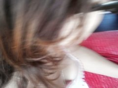 Downblouse russian female brown hair