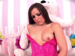 Lola spreads her tight wet pussy