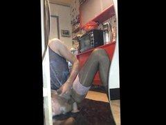 Anal gaping tranny play panty nylon part3