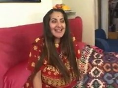 Hot threesome - Two boys fuck a big titted Indian MILF
