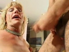 Older Tranny Getting Nailed..