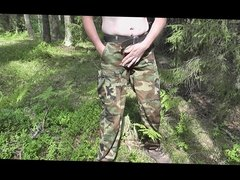 JERK OFF IN MILITARY TROUSERS