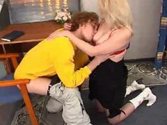 mature blonde and boy 2