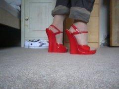 7 inch wedge sandals