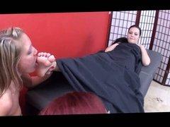 Lesbian Sex Foot Massage!