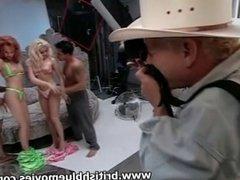 Flick Shagwell and Rebecca 'Kinky' Jordan get Gang Banged