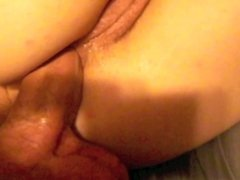 Cum in her asshole secretly and deeply