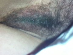 Sneaky Front Pussy View under the Sheets