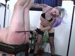 Candi femdom face sitting and cock torture whipping