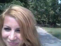 Hot Blonde Masturbating in the Park!!