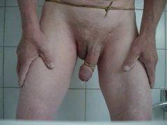 cum with cock in bondage
