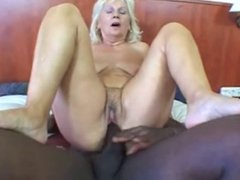 Granny gets young black cock
