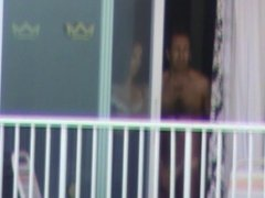 Hotel neighbour balcony guy 2