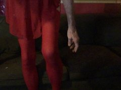 Red Nighty cum