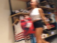 Candid Booty Shopper at Urban Outfitters
