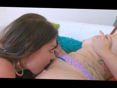 Two Long Haired Lesbians Fingering and Licking- no toy