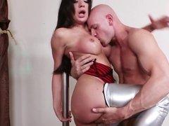 big titted pole dancer gets fondled