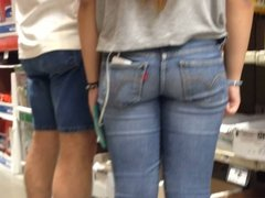 Candid Teen Booty at Home Depot