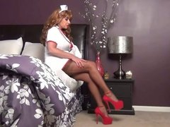 Nurse Goodbody - Samantha Legs in FF stockings and red heels