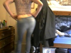 Crossdresser in Jeans
