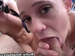 Sunny and Holly on awesome POV with cumshot