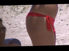 candid beach spy crotch 90 fat booty, pussy lip slip