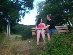 Amateur Teen Couple Blowjob in Public