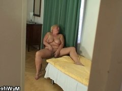 He finds not his mother-in-law naked and fucks her