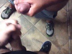 2 lads wanking in toilets