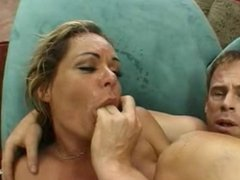 Blonde mature motivated for a cock in her anus
