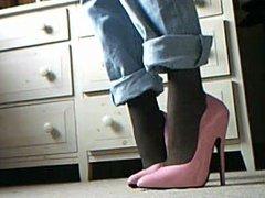 6 inch pink ellie heels
