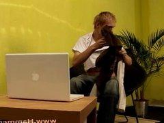 Blond Zdenek Hora from Hammerboys TV