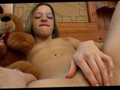 Puffy Nipped Teen Tabitha Plays And Sucks