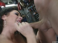Busty Jayden Jaymes Sucks On A Hard Thick Cock