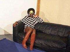 French  Black Girl Masked