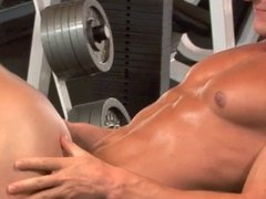 Gym buddies mutual admiration