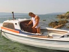 Jerking off on the boat