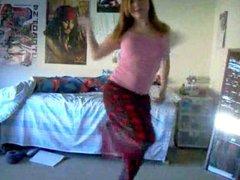 Hot Redhead Teen Strip Dance