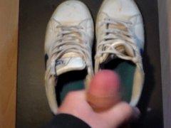 Friend cum in my wife sneakers