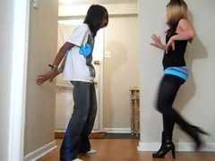 Ballbusting - Teen Alternating Kicks & Knees to the Balls