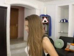 Russian babe assfucked on camera