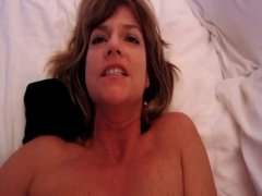 Facial for this hot MILF