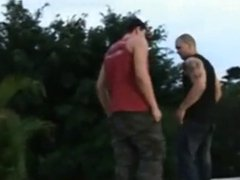 latino hunks fuck in the outdoors