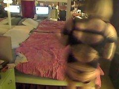 Having fun in my room dancing
