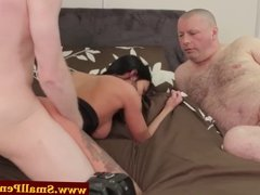 Mistress teaches him about real cock
