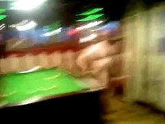 naked Billiard Player