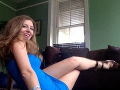 GIRL IN BLUE MINI DRESS
