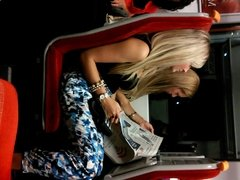 Train Perving - Hot Blonde Fuckmeat