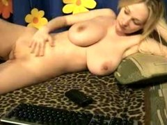 Young big titted girl in webcam